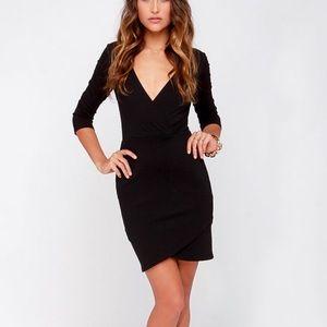 Lulus Lean Into It Black Dress